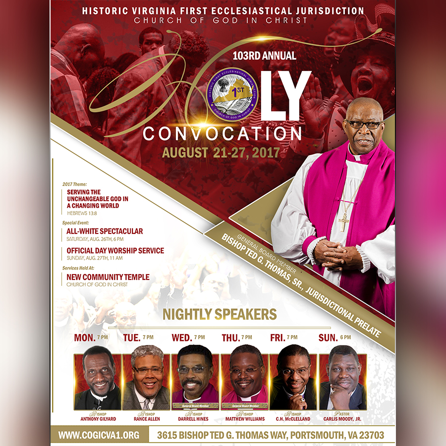 103rd Holy Convocation – Historic First Jurisdiction of Virginia